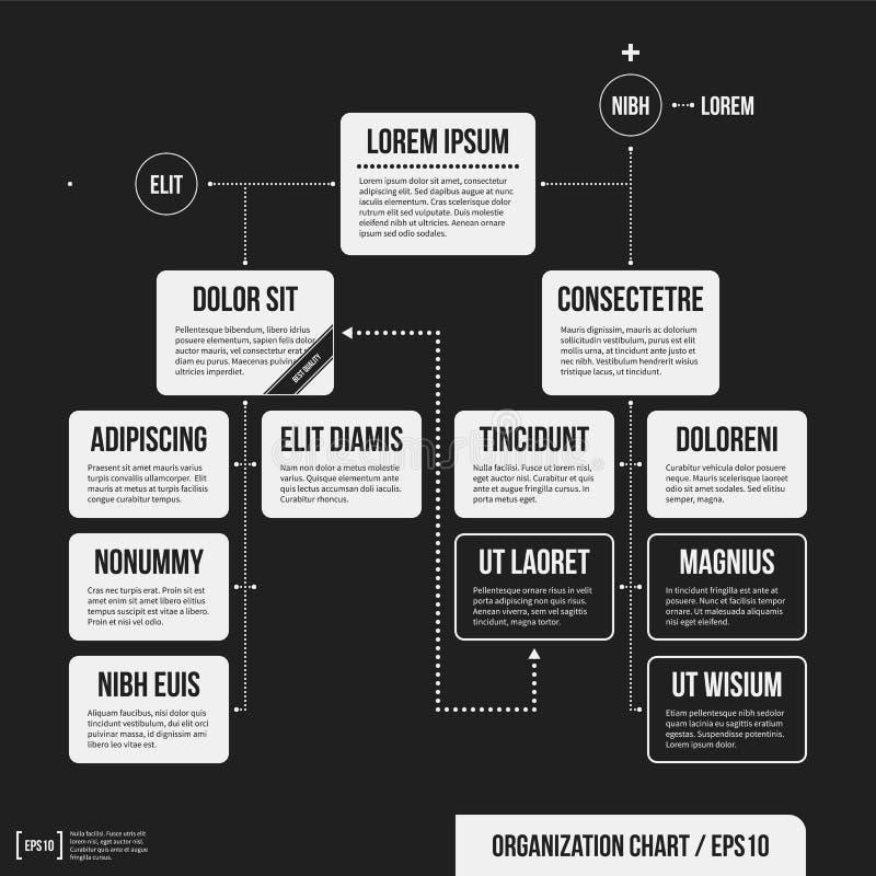 Шаблон организационной схемы с геометрическими элементами бесплатная иллюстрация