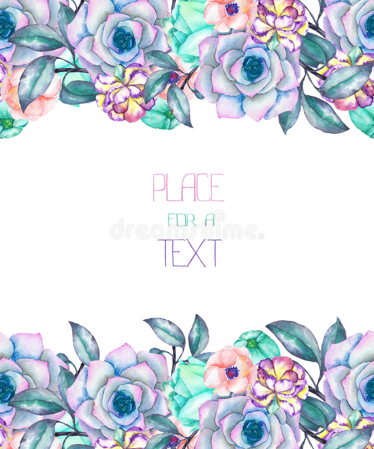 Рамка из цветков для открытки 207