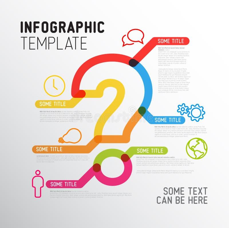 Шаблон отчете о вопросительного знака Infographic вектора иллюстрация штока