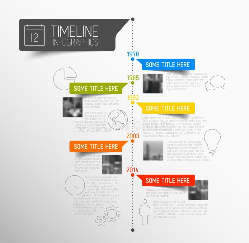 Шаблон отчете о временной последовательности по Infographic вектора бесплатная иллюстрация