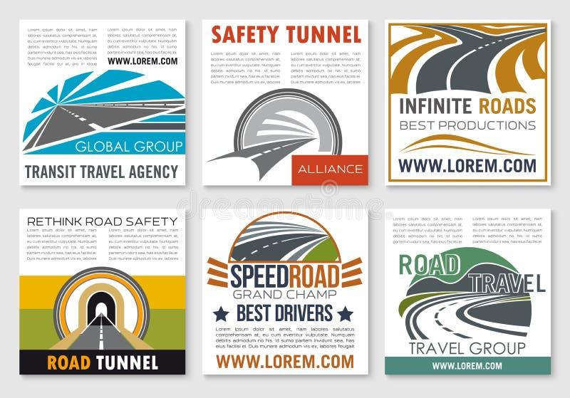 Шаблон перемещения дороги и рогульки безопасности дорожного движения бесплатная иллюстрация
