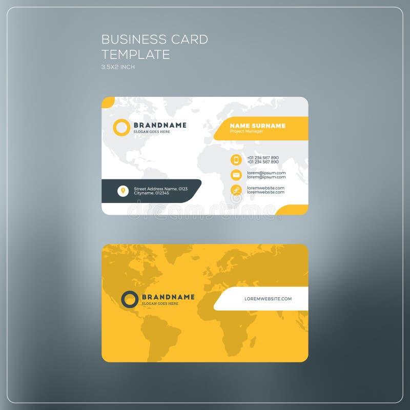 Шаблон печати визитной карточки корпоративного бизнеса Личная карточка посещения w иллюстрация вектора