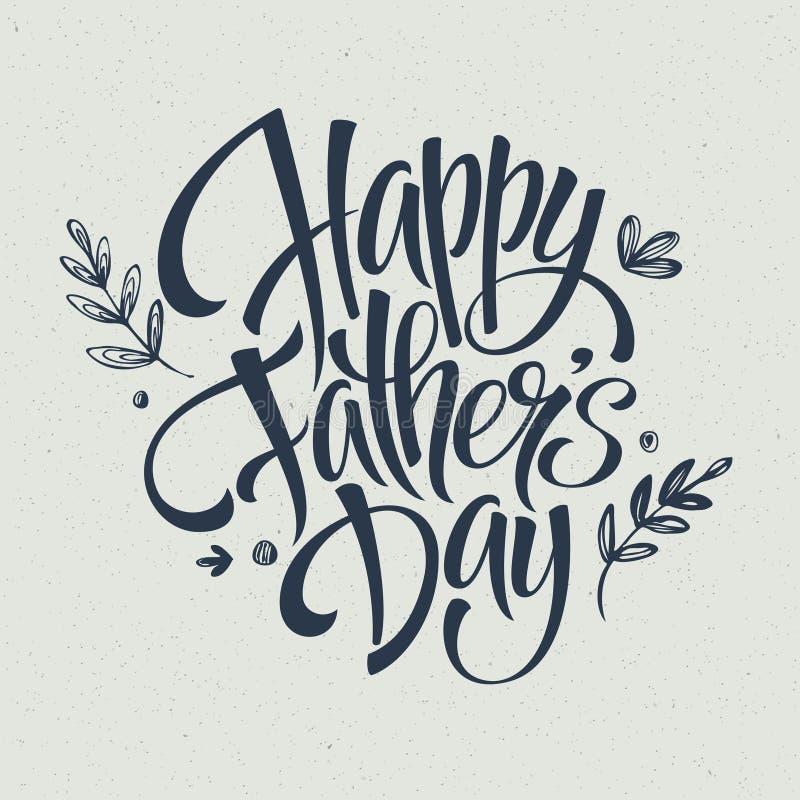 Шаблон поздравительной открытки на день отца вектор иллюстрация штока