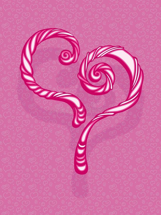 Шаблон поздравительной открытки сердца стоковая фотография