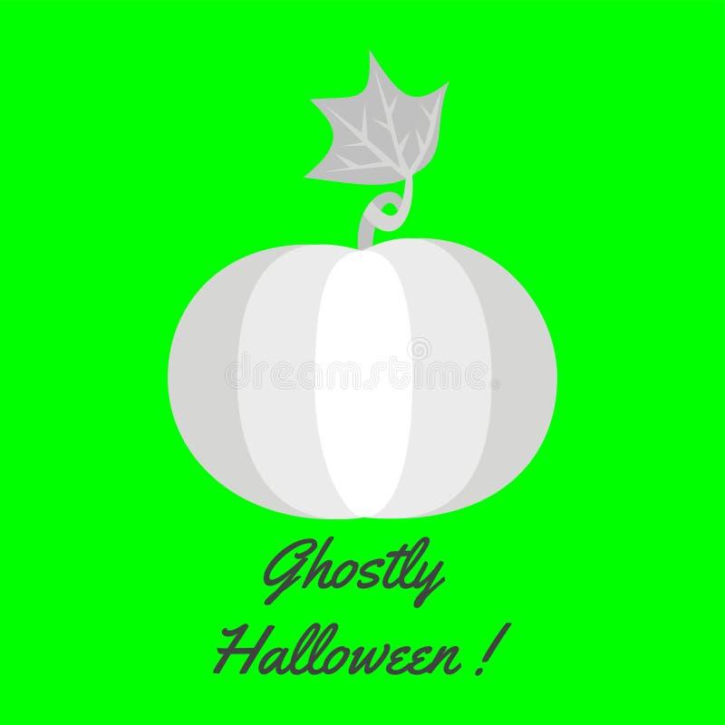 Шаблон поздравительной открытки хеллоуина с тыквой бесплатная иллюстрация