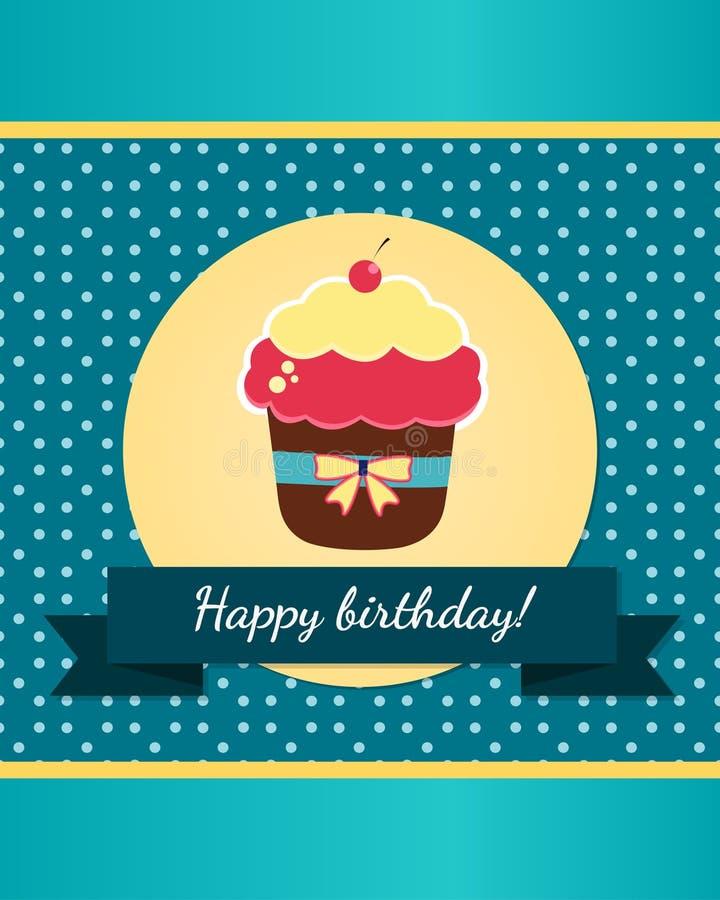 Шаблон поздравительой открытки ко дню рождения с днем рождений бесплатная иллюстрация