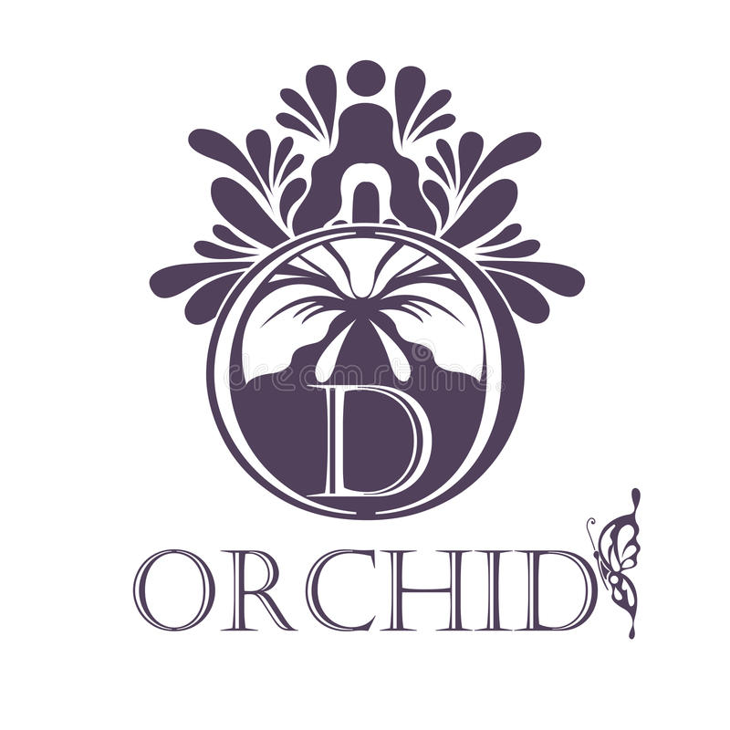 Шаблон предпосылки цветка Символ лотоса логос иллюстрация вектора