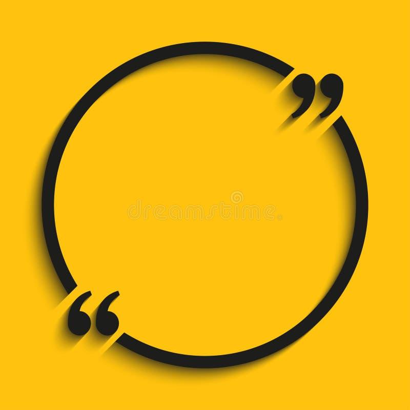 Шаблон пробела круга цитаты вектора прицветников бесплатная иллюстрация