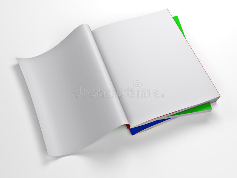 Шаблон пустой страницы кассеты иллюстрация штока