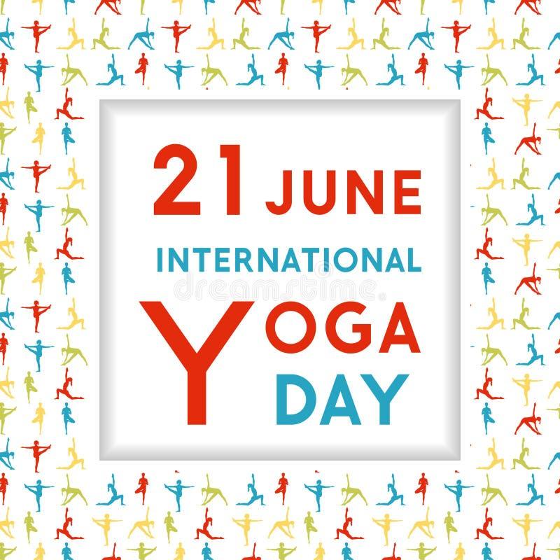Шаблон плаката на международный день йоги бесплатная иллюстрация