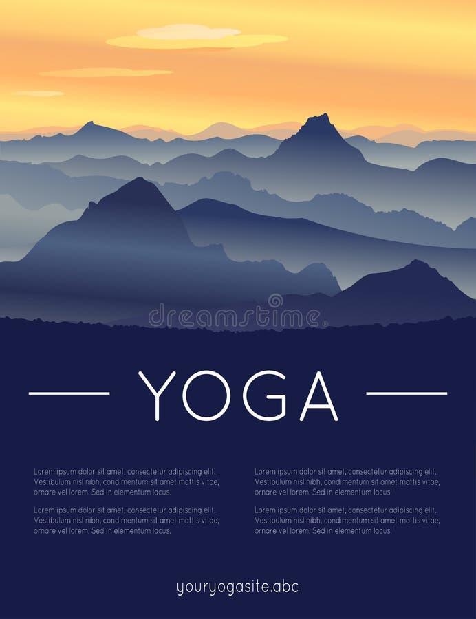 Шаблон плаката на международный день йоги иллюстрация вектора