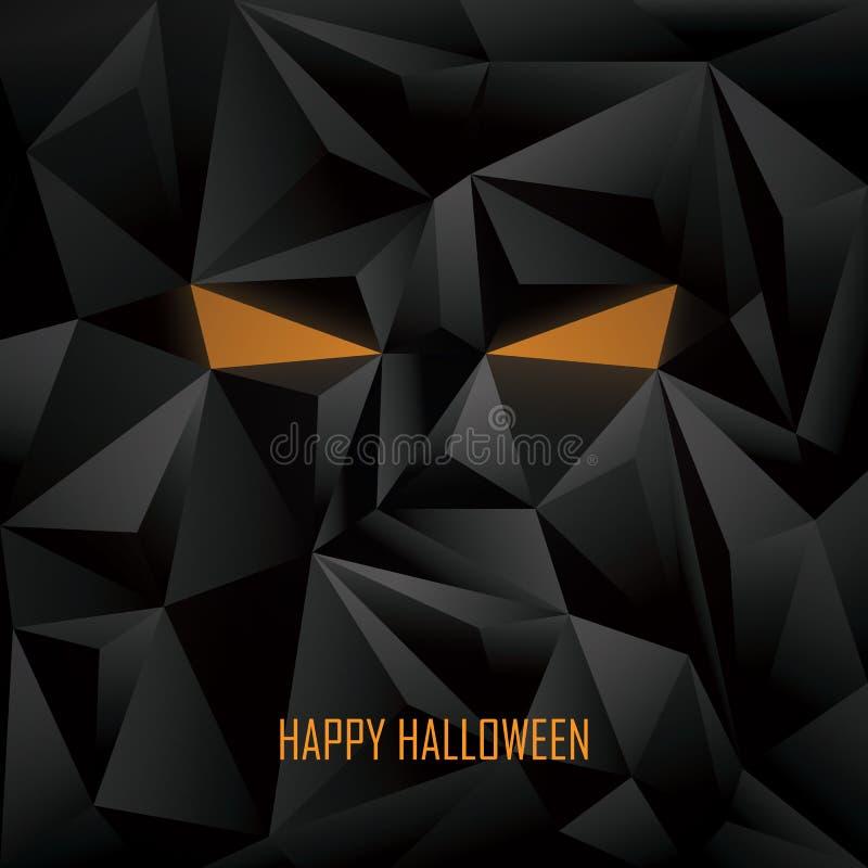 Шаблон плаката хеллоуина Низкая поли предпосылка иллюстрация вектора
