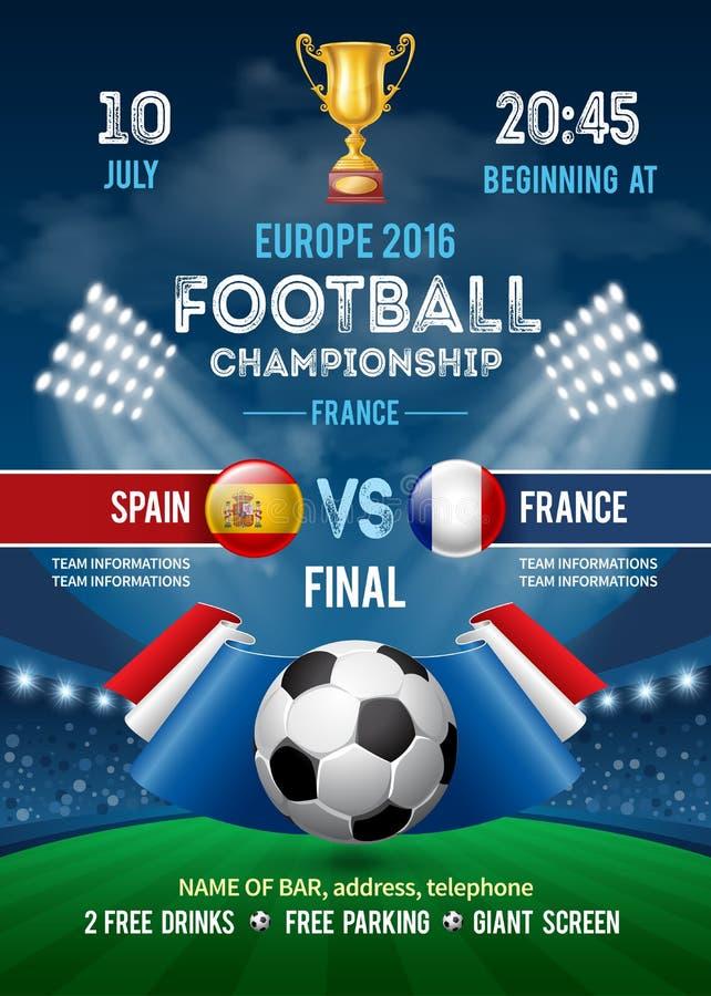 Шаблон плаката чемпионата футбола бесплатная иллюстрация