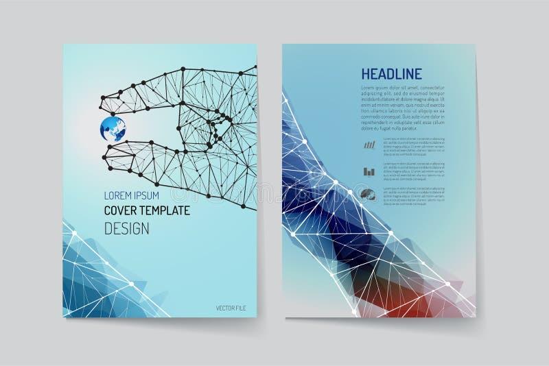Шаблон плана брошюры и дизайн предпосылки бесплатная иллюстрация