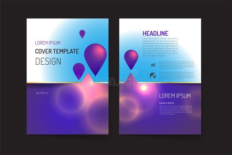 Шаблон плана брошюры и дизайн предпосылки иллюстрация вектора
