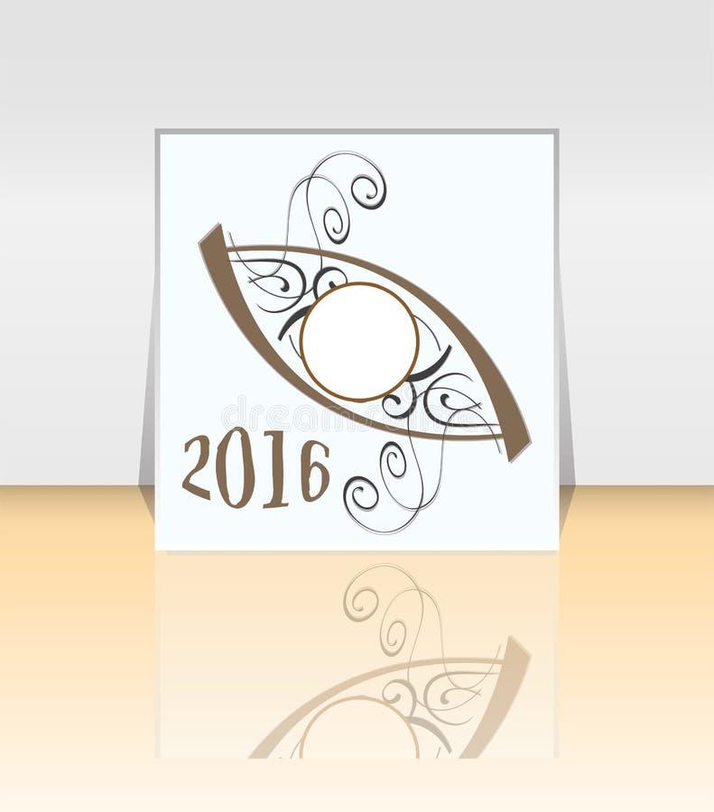 Шаблон 2016 плана дизайна рогульки брошюры Абстрактный стиль иллюстрация штока
