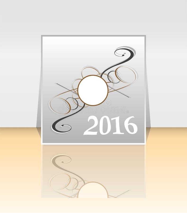 Шаблон 2016 плана дизайна рогульки брошюры иллюстрация вектора