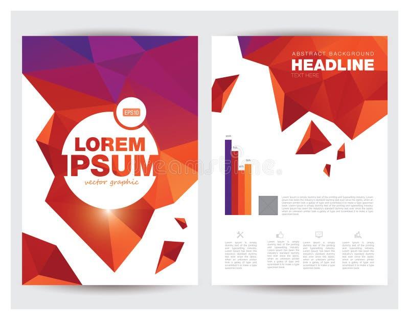 Шаблон плана рогульки брошюры дела размера A4 иллюстрация вектора