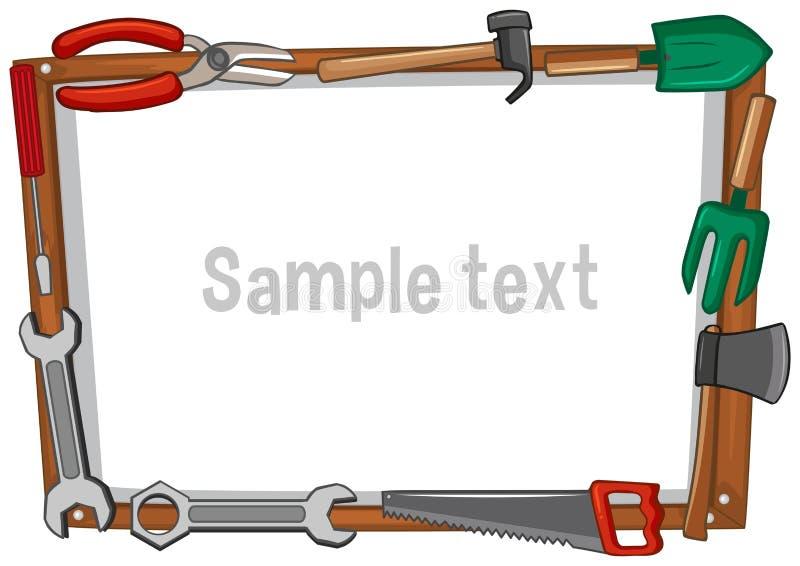 Шаблон рамки с различными инструментами бесплатная иллюстрация