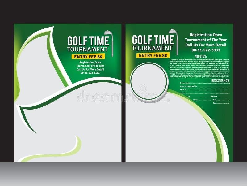 Шаблон рогульки гольфа бесплатная иллюстрация