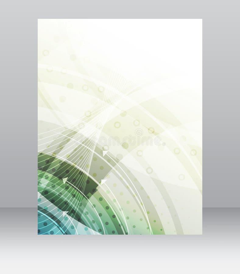 Шаблон рогульки дела, брошюра, дизайн крышки, папка или корпоративное знамя с технологической структурой иллюстрация штока