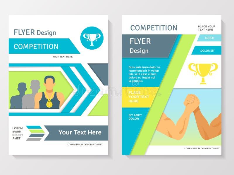 Шаблон рогульки конкуренции спорт иллюстрация вектора