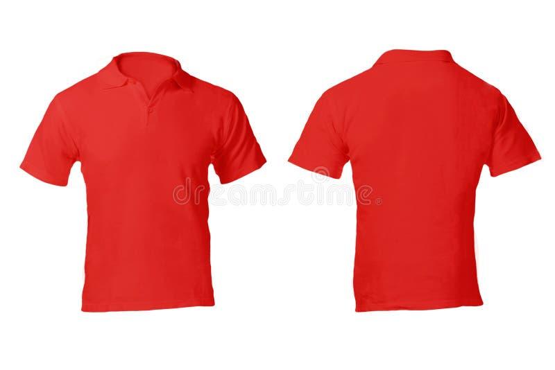 Шаблон рубашки поло людей пустой красный стоковое фото rf