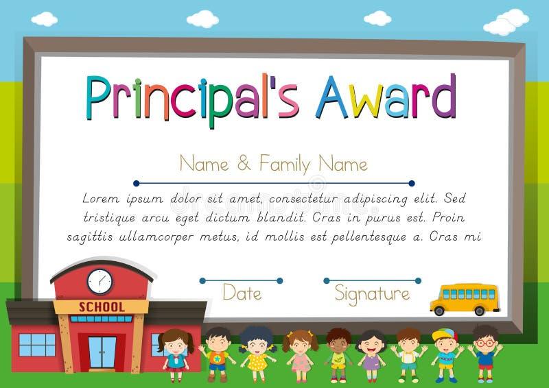 Шаблон сертификата для главным образом награды бесплатная иллюстрация