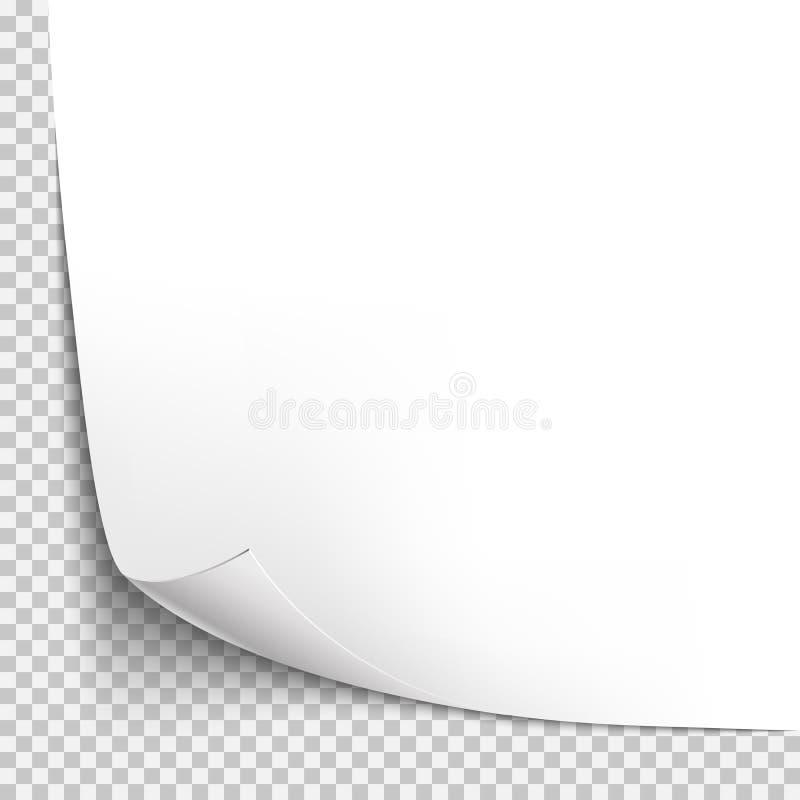 Шаблон скручиваемости угловой бумажный Прозрачная решетка Пустая страница предпосылки бесплатная иллюстрация