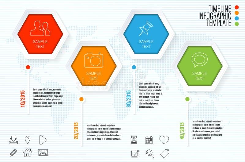 Шаблон срока infographic для современного infographics бесплатная иллюстрация