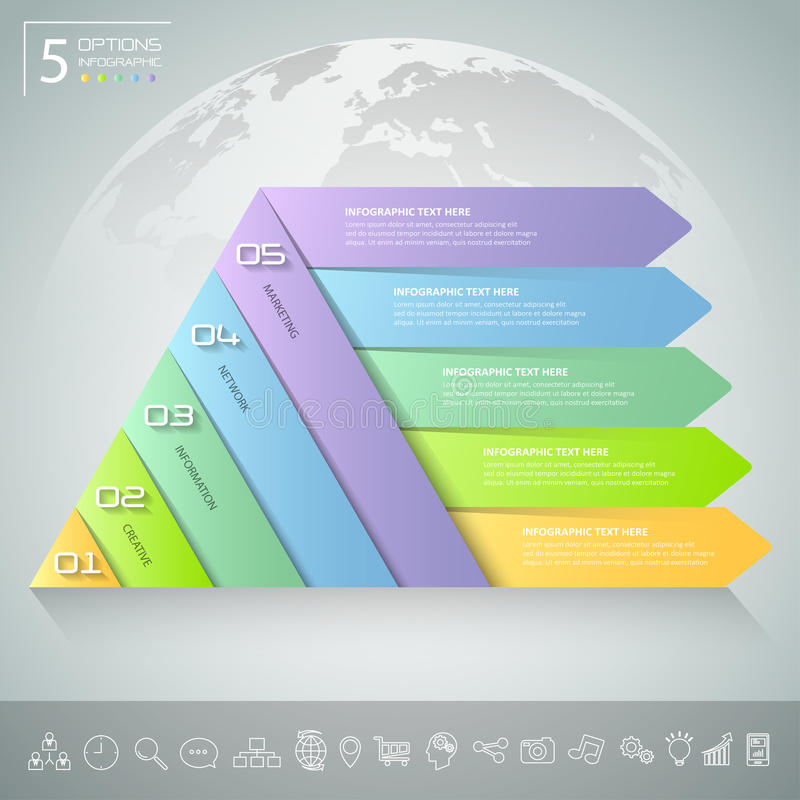Шаблон треугольника дизайна infographic Концепция дела infographic иллюстрация штока