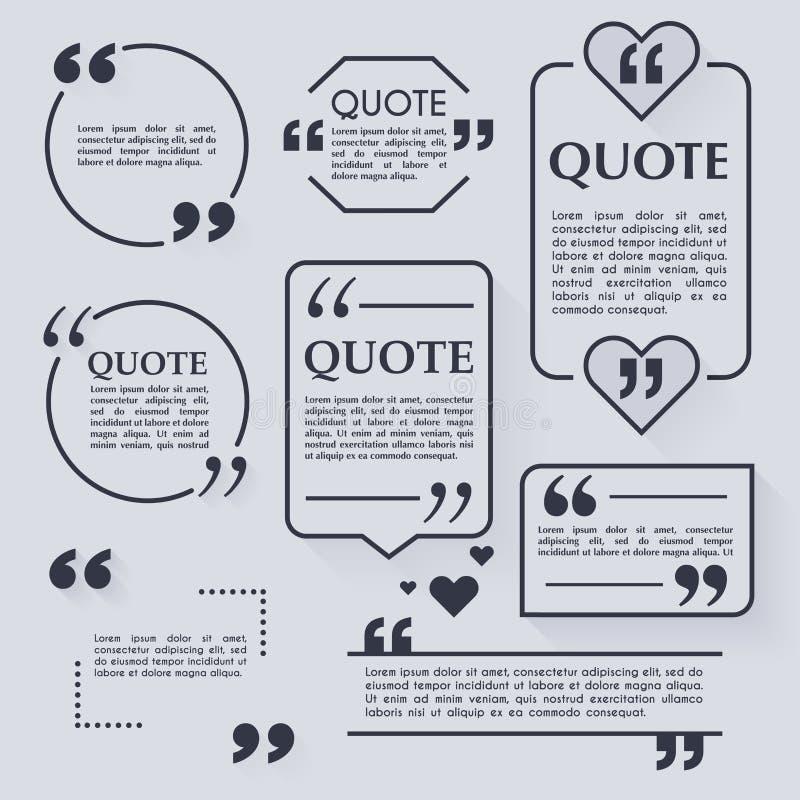 Шаблон цитаты пустой Элементы дизайна, визитная карточка круга бесплатная иллюстрация