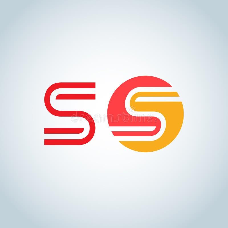 Шаблон элемента дизайна алфавита логотипа письма s Тип концепции ABC как логотип Линия искусство значка оформления иллюстрация вектора