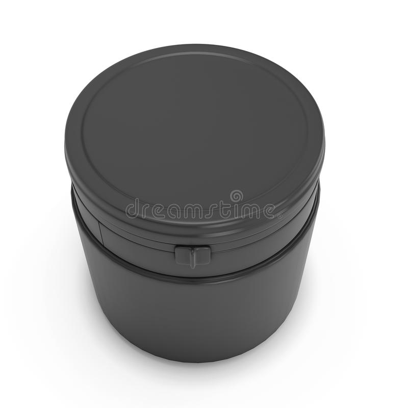 Шаблон для дизайна черной пластмассы может для продуктов иллюстрация штока