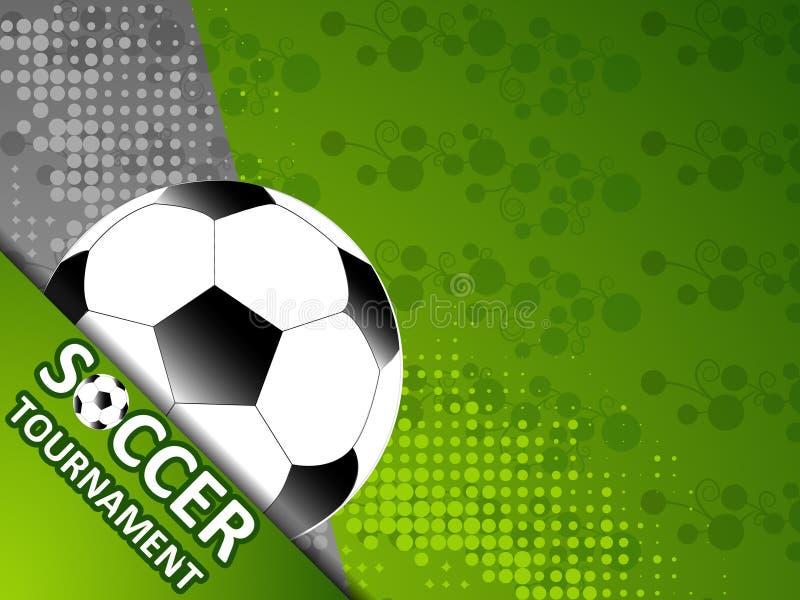 Шаблон для турнира футбола приглашения иллюстрация вектора