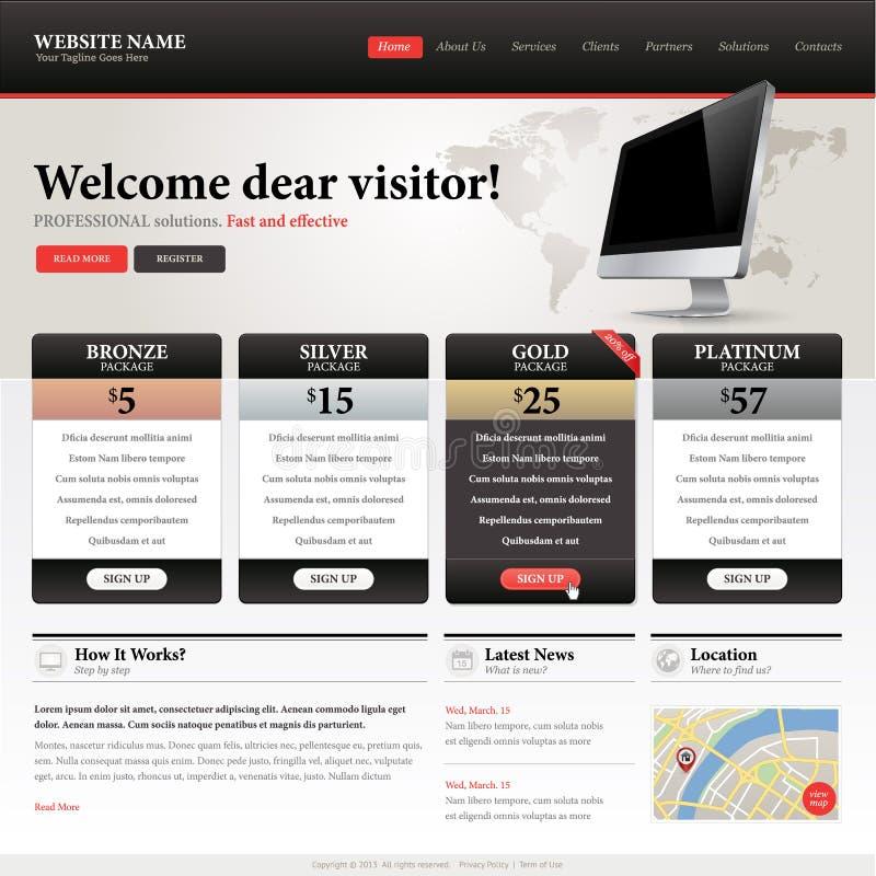 Шаблон конструкции вебсайта иллюстрация вектора