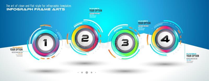 Шаблон Infograph с разнообразными выборами и много infographic элементами дизайна бесплатная иллюстрация