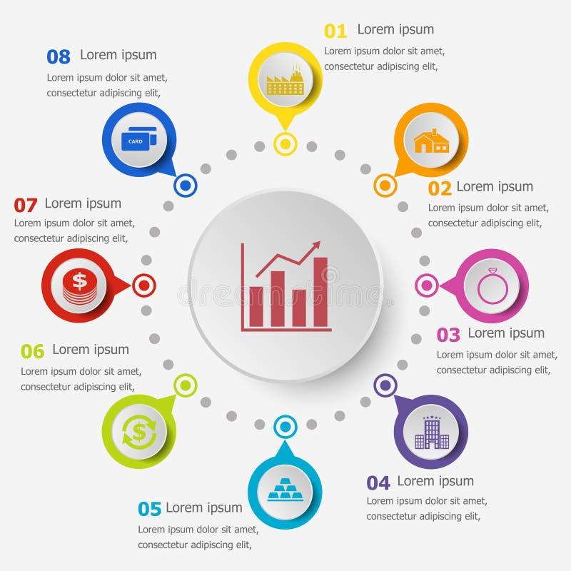 Шаблон Infographic с значками займа бесплатная иллюстрация
