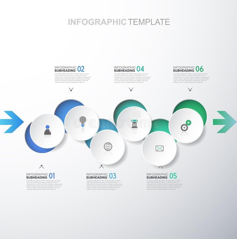 Шаблон Infographic иллюстрация штока