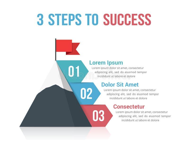 4 шага к успеху бесплатная иллюстрация