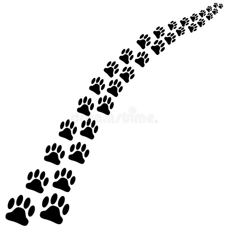 Шаги лапки черной собаки бесплатная иллюстрация