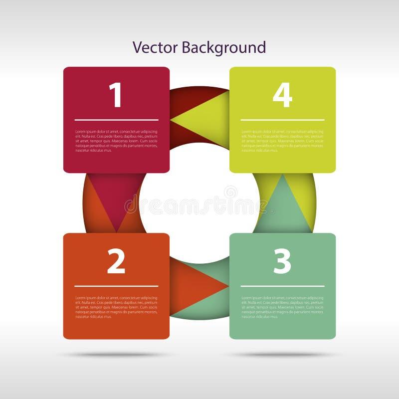 Download Шаги вектора бумажные иллюстрация вектора. иллюстрации насчитывающей знамена - 37930913