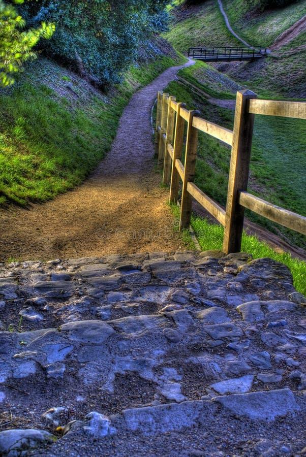 шаги замока стоковая фотография