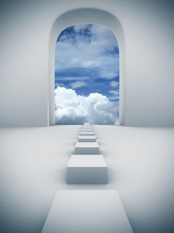 шаги неба к иллюстрация вектора