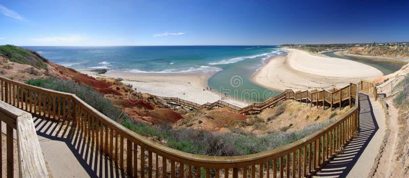 шаги порта noarlunga пляжа стоковые фотографии rf