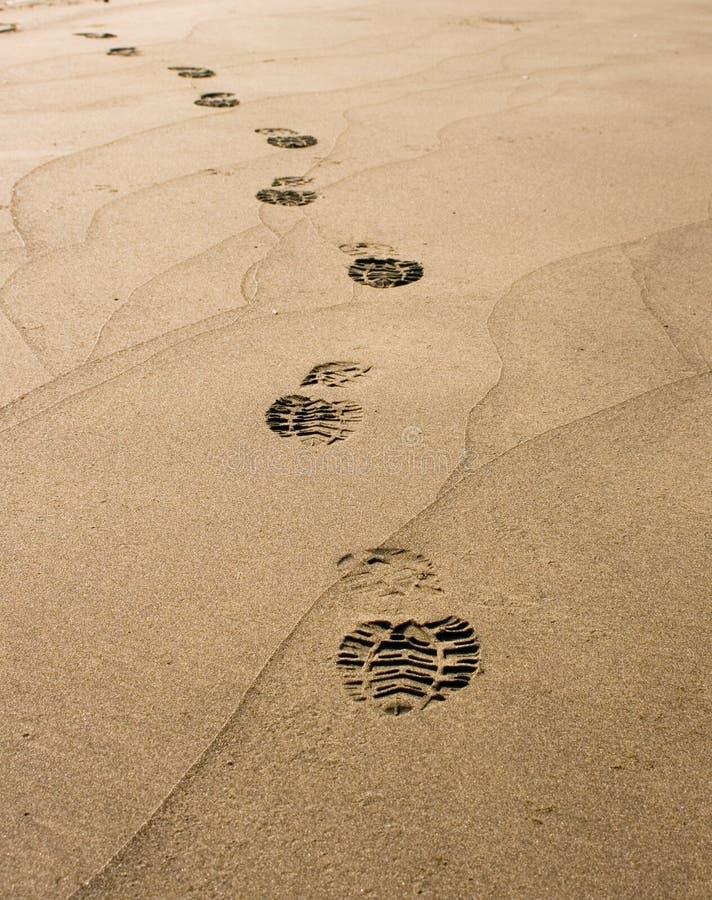 шаг пляжа стоковое фото rf