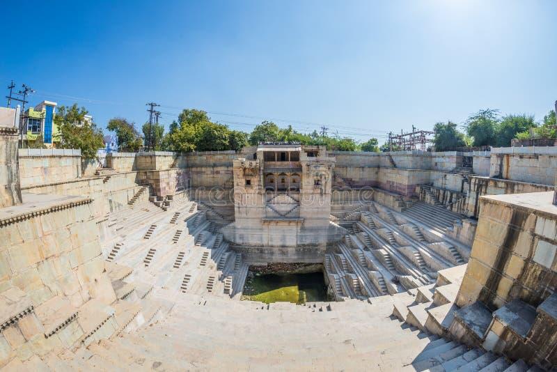 Шаг хорошо на Bundi, Раджастхане Старое водоснабжение в Индии стоковые фотографии rf