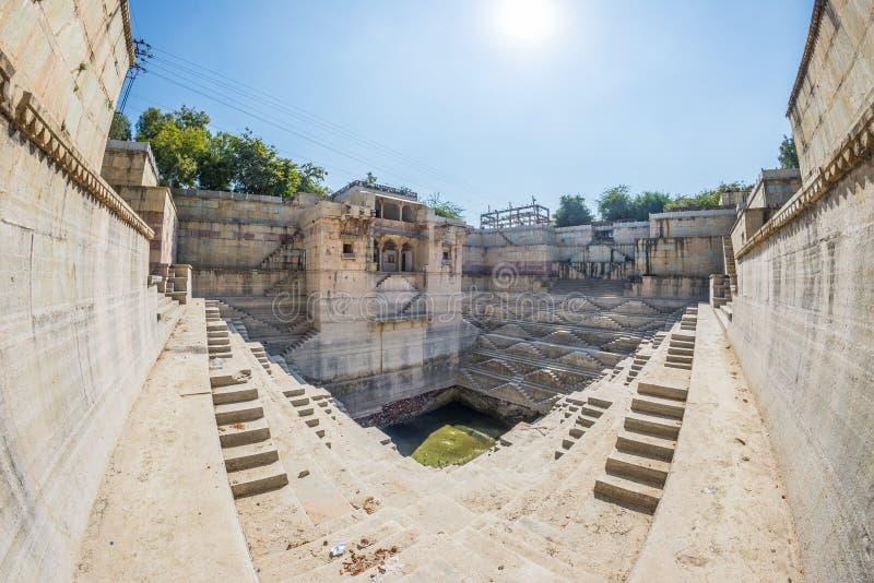 Шаг хорошо на Bundi, Раджастхане Старое водоснабжение в Индии стоковая фотография