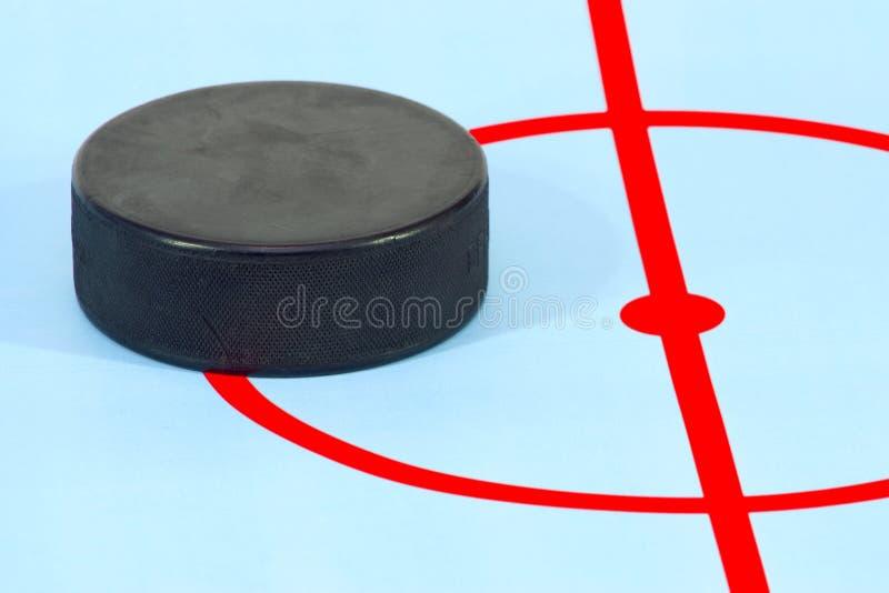 шайба хоккея игры стоковое фото