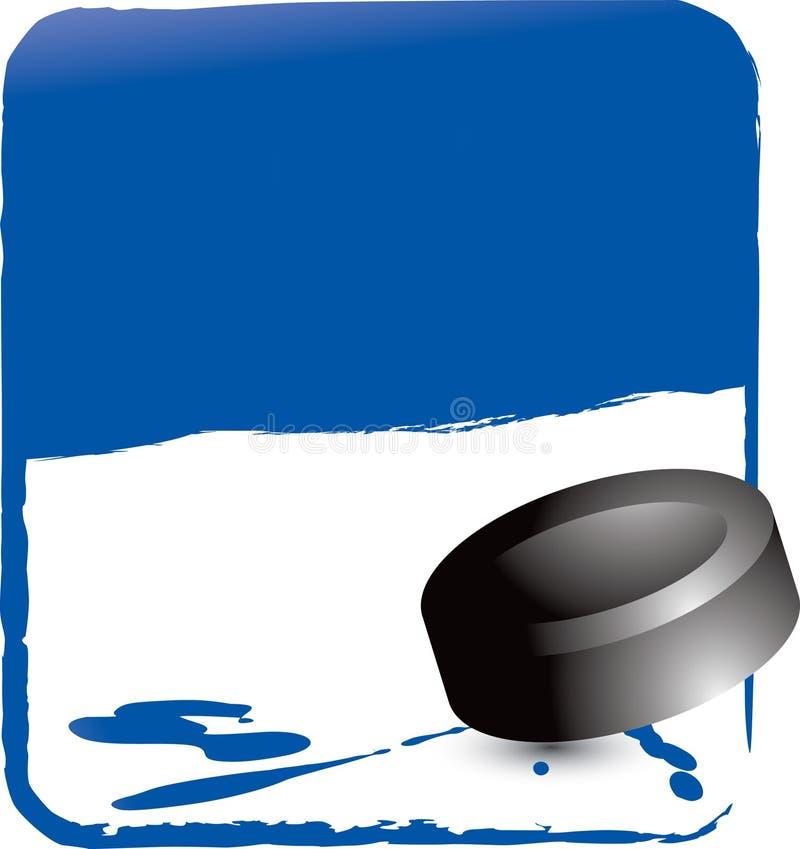 шайба хоккея предпосылки голубая бесплатная иллюстрация
